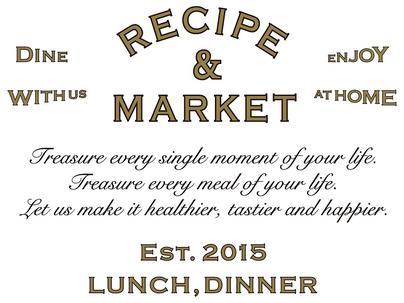 「RECIPE & MARKET(レシピ アンド マーケット)」の画像検索結果