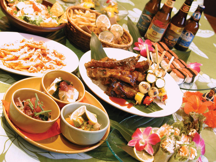 LUAU Aloha Table with GALA Banquet [006]
